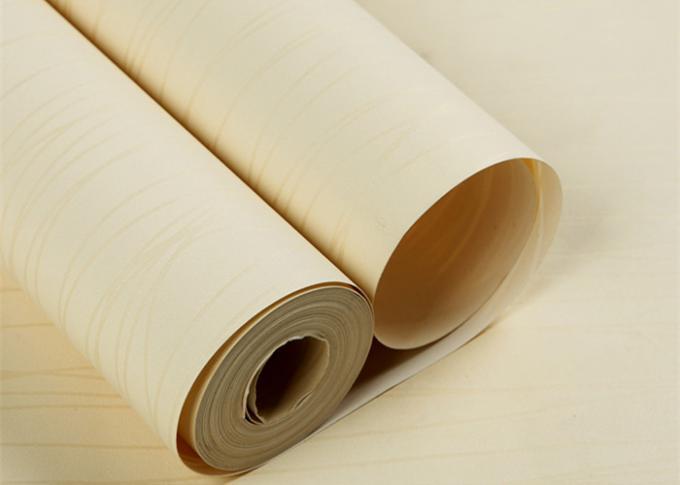 Creamy White Stripes Contemporary Wallpaper For Home Non Permanent