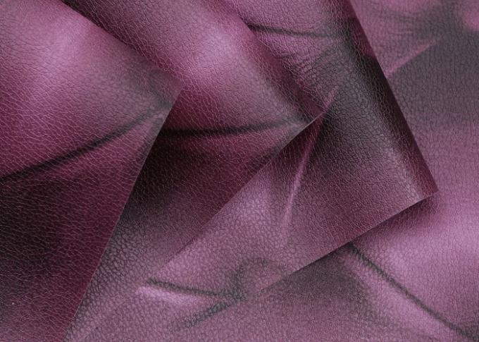 European Style Leather Wallpaper Luxury 3D Effect Contemporary Purple