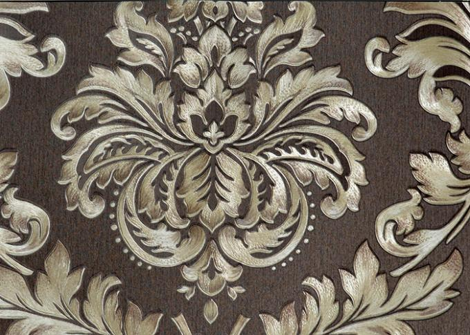 Modern Style PVC Damask Low Price Wallpaper for Office / House Decoration , SAC CE