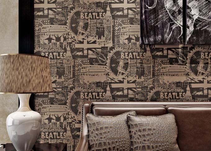Style Modern Lounge Wallpaper 0.53*10M , Sitting Room Wallpaper .