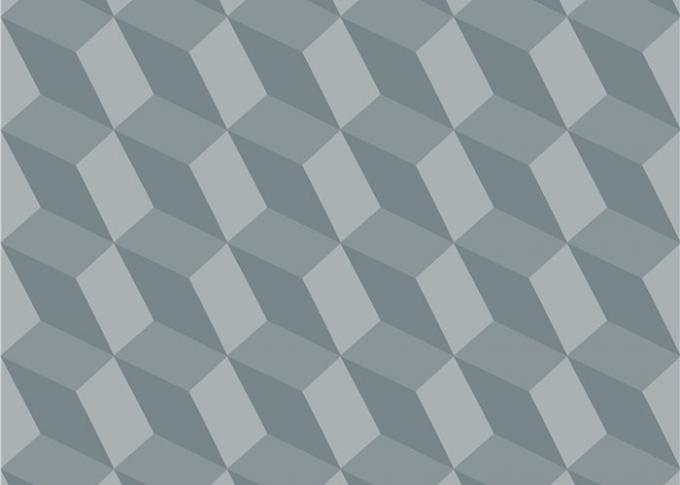 3D Effect Geometric Contemporary Wall Covering , 0.53*10M / Roll , Non-Pasted