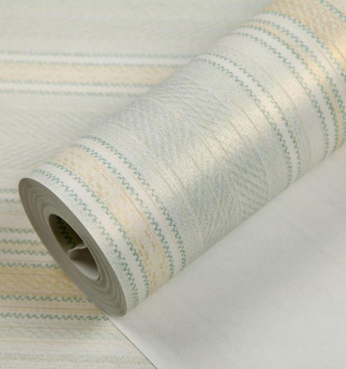 Non-woven breathable low flammability embossed vinyl wallpaper