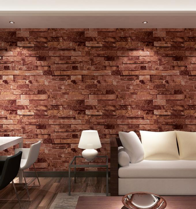 Contemporary economical waterpoof  3D brick foam Vinyl Wallpaper