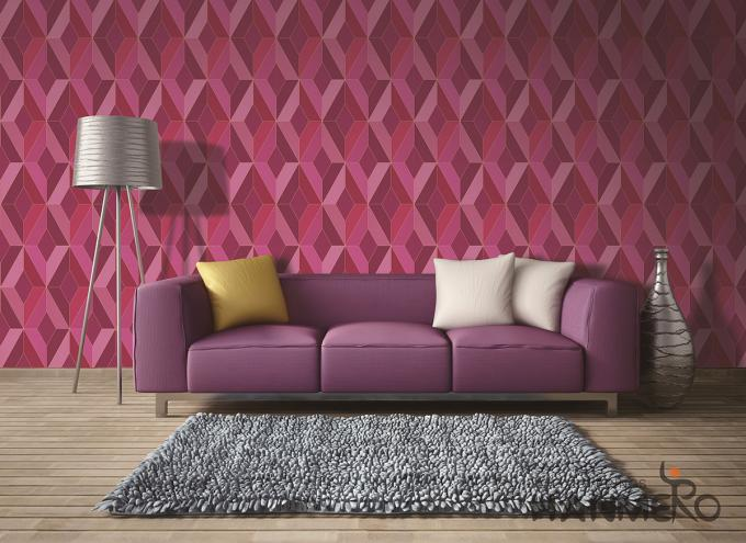 PVC Material 3D Effect Wallpaper For Walls In Hotel Nightclub Decoration