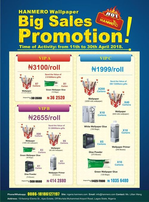 HANMERO Lagos Warehouse Wallpaper Big Promotion!!