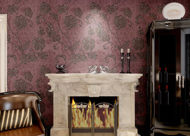 Removable Embossed Country Style Wallpaper / Vinyl Modern Wallcovering