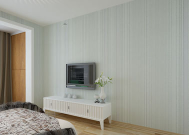 Simple Fashion Grey Modern Striped Wallpaper , Modern Self Adhesive Wallpaper For Hotel Room
