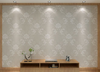Sliver Floral Pattern Modern Removable Wallpaper for Living Room