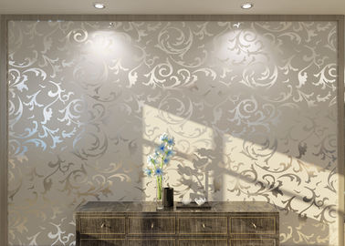 White Non - woven Removable European Style Wallpaper For Living Room