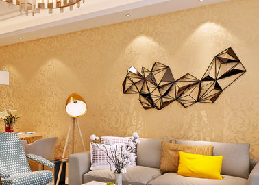 Removable European Style Wallpaper with Luxurious Golden Leaf Pattern