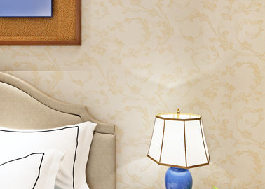 Beige European Country Style Wallpaper with Non - Woven Paper , Bedroom Wall Covering
