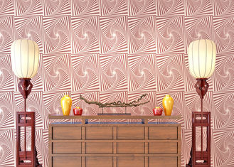 Living Room Modern Removable Wallpaper Pink Mauve Scatter Beads Technology