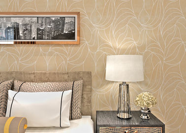 SGS Leaf Printing European Style Wallpaper with Multtfilament Surface Treatment