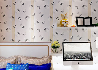 Black And White PVC Modern Removable Wallpaper Contemporary Wall Coverings