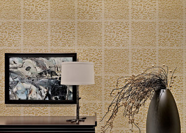 Light Brown Non Woven Wallcovering European Style Wallpaper For Living Room