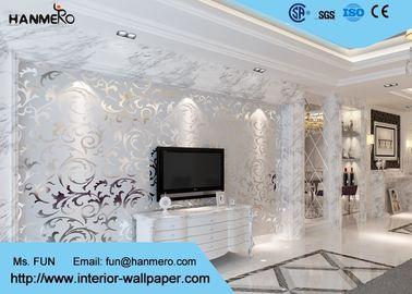 3D Design Silver Grey European Modern Wallpaper for Bedrooms TV Background
