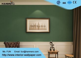 Durable Non woven Wallpaper Removable Material with Dark Green Color