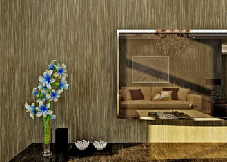 Coffee Durable Modern Wallpaper For Bedrooms , Hotel Modern Wall Covering