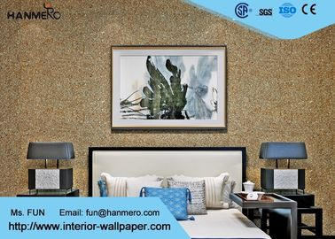 Eco Friendly Mica Stone Wallpaper , Modern Removable Wallpaper With Particles