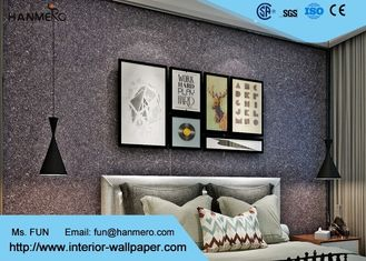 Bedroom Mica Stone Wallpaper , 3d Brick Effect Wallpaper With Vermiculite Material