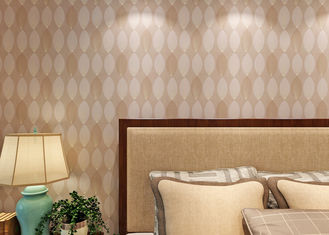 Bronzing Leaf Non Woven Wallpaper For Office Walls / Living Room , Water Against