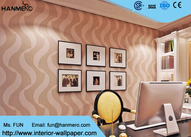 Bedroom Luxury Non Woven Wallcovering For Home Decoration , Foam Surface Treatment