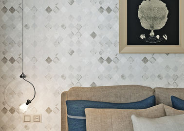 Non-woven White Color Modern Removable Wallpaper For the Beddingroom
