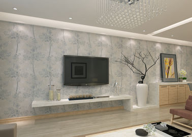 Symmetrical Tree Pattern Contemporary Wall Coverings , Modern House Wallpaper