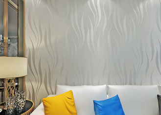 Nonwoven Foam Modern Self Adhesive Wallpaper , 3D Peel And Stick Wall Coverings