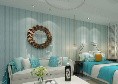 Modern Striped Wallpaper Yarn breathable wall covering for bedroom