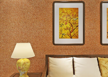 0.53*10m Mica Wall Covering / Non - Woven Living Room Modern Wallpaper Yellow Color