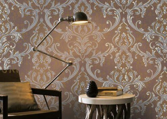 Removable Home Decoration Wallpaper 1.06*10m / Country House Wallpaper Floral Pattern