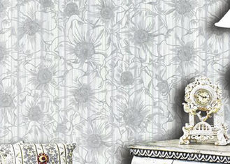 1.06m Korean Country Floral Wallpaper / Waterproof Country House Wallpaper , Foam Surface