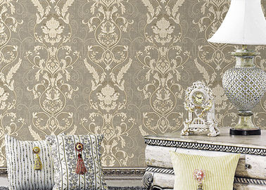 Width Moisture Resistant Wallpaper Mold Proof With Printed Surface Treatment , Pattern Optional