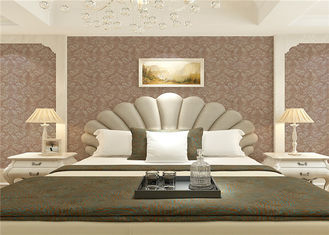 Wet Embossed Non Pasted Bedding Room European Style Wallpaper 0.53*10m