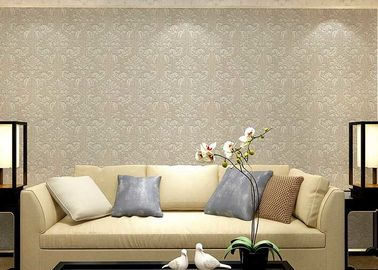 Colorful Floral Non woven European Style Wallpaper room design Wet embossed