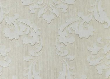 Floral Stylish Non Woven Wallpaper , TV background textured removable wallpaper high end