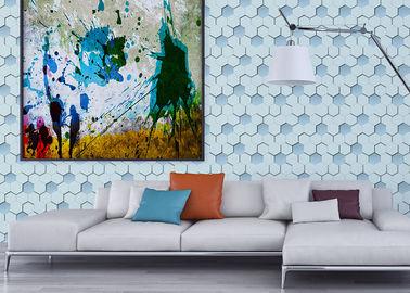 Decoration Pvc 3d Hive Effect Washable Vinyl Wallpaper For Cinemas