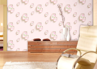 Eco-Friendly Low Flammability Living Room Wallpaper , Interior Decorating Wallpaper