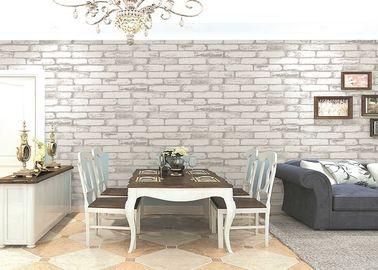 Natural Plant Fibers 3D Brick Wallpaper Old Industrial Fresco Living Room Bakery Hot Pot Shop Brick Wallpaper