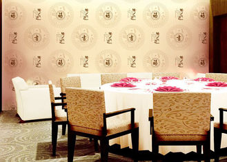 Chinese Works And Patterns Room Decoration Asian Inspired Wallpaper With PVC Material For Hotel