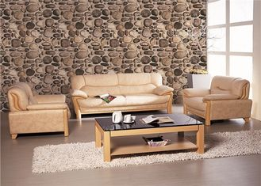 PVC Stone Rustic Vinyl coated Paper Living Room Wallpaper Sound Absorbing