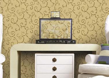 European Style Cane Vine Pattern Eco - Friendly Home Decoration Wallpaper PVC