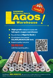 HANMERO Lagos Warehouse Wallpaper Big Promotion!!