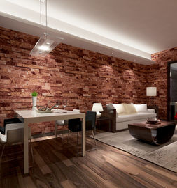 China Contemporary economical waterpoof  3D brick foam Vinyl Wallpaper supplier