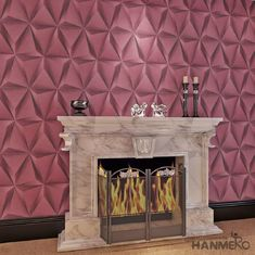 Modern Foam Vinyl Embossed Wallpaper / Interior Design Wall Paper With 3D Effect