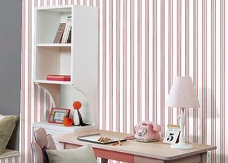 Removable Modern Home Decoration Wallpaper For Bedroom , Non - Woven Material