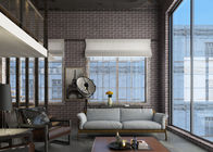 Retro 3D Brick Wall Effect Wallpaper For Sitting Room , Chinese Style Wallpaper