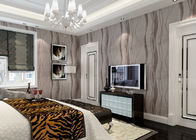 China Grey Removable Wall Coverings Contemporary Bedroom Wallpaper With Curve Line Pattern factory