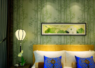 Wet Embossing Moisture - Proof Non woven Wallpaper With Bamboo Pattern